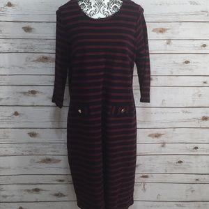 Talbots Plus Size Stripe Dress
